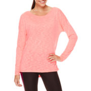Xersion™ Studio Long-Sleeve Cross-Back Tee - Petites