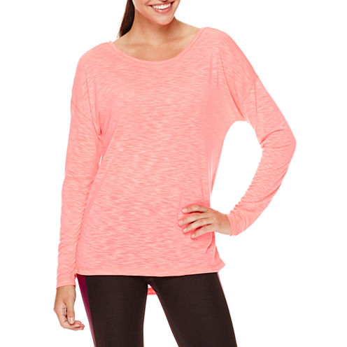 Xersion™ Long-Sleeve Cross Back Tee - Tall
