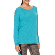 Xersion™ Studio Long-Sleeve Cross-Back Tee or Studio Cotton Capris
