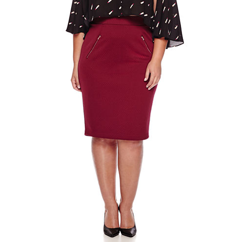 Ashley Nell Tipton for Boutique+ Quilted Pencil Skirt - Plus