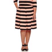 Boutique+ Ashley Nell Tipton Box Pleat Skirt - Plus