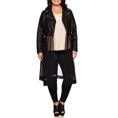 jcpenney.com | Boutique+ Moto Jacket, Sparkle Tee or Pull-On Slashed-Knee Leggings - Plus