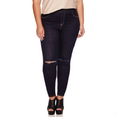 jcpenney.com | Ashley Nell Tipton for Boutique+ Pull-On Slashed-Knee Leggings - Plus