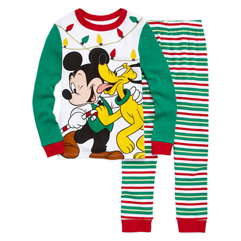 Disney Mickey Mouse Holiday 2pc Pajama Set
