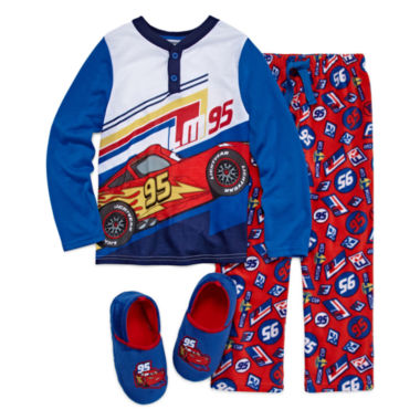 jcpenney.com | Disney Collections Cars Pajama Set and Slippers - Boys