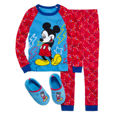 jcpenney.com | Mickey Mouse 2-pc. Cotton Pajama Set or Slippers - Boys