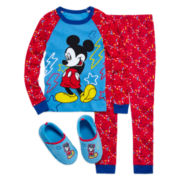 Mickey Mouse 2-pc. Cotton Pajama Set or Slippers - Boys