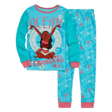 jcpenney.com | Disney Collection 2-pc. Moana Cotton Pajamas Set