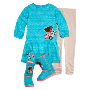 jcpenney.com | Disney Collection Moana 2-pc. Dress Set or Boots - Girls