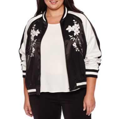 jcpenney.com | BELLE + SKY™ Embroidered Bomber Jacket