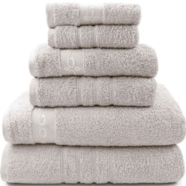 jcpenney.com | Pacific Coast Textiles™ Fleur Swirl 6-pc. Bath Towel Set