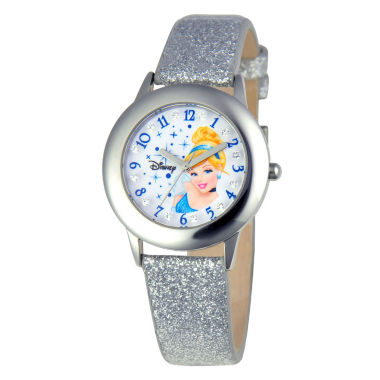 jcpenney.com | Disney Cinderella Tween Glitz Kids Stainless Steel Watch