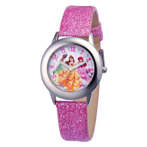 Disney Princess Tween Glitz Time Teacher Kids Stainless Steel Watch