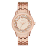 Relic® Patricia Womens Rose-Tone Crystal-Accent Glitz Bracelet Watch
