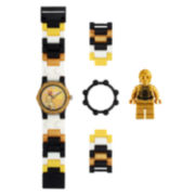 LEGO® Kids C3P0 Miinfigure Watch Set