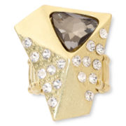 Aris by Treska Gold-Tone Crystal Stretch Ring