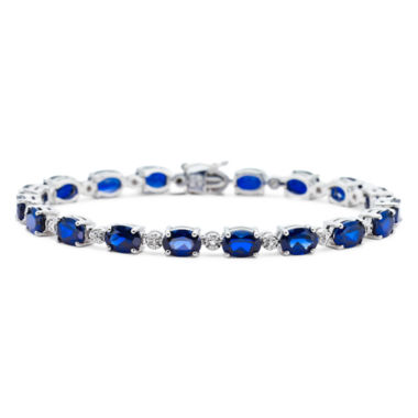 jcpenney.com | Lab-Created Blue Sapphire & Diamond-Accent Tennis Bracelet
