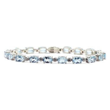 jcpenney.com | Genuine Blue Topaz & Diamond-Accent Tennis Bracelet
