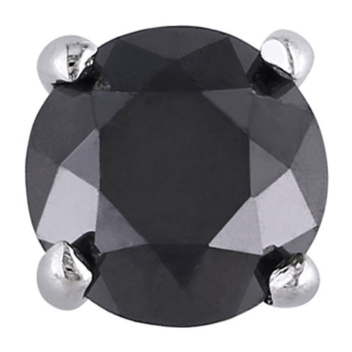 3/8 CT. T.W. Color-Treated Black Diamond Single Stud Earring