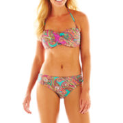 Ocean Avenue Paisley Print Bandeau Swim Top or Hipster Bottoms