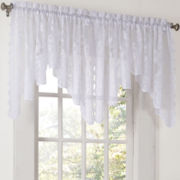 Lichtenberg Alison Rod-Pocket Sheer Lace Valance