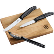 Victorinox® Swiss Army 4-pc. Prep Knife Set + Cutting Board