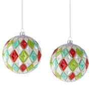MarthaHoliday™ Set of 2 Diamond Pattern Ornaments