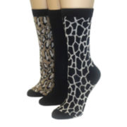 Mixit™ 3-pk. Giraffe Crew Socks