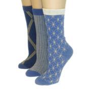 Mixit™ 3-pk. Geo Print Crew Socks