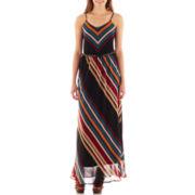 Heart & Soul® Sleeveless Striped Maxi Dress