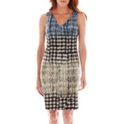 Worthington® Sleeveless Scuba-Knit Sheath Dress