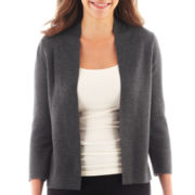 Liz Claiborne® Long-Sleeve Shawl-Collar Cardigan Sweater - Tall
