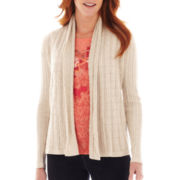 St. John's Bay® Long-Sleeve Flyaway Cardigan Sweater - Tall