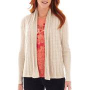 St. John's Bay® Long-Sleeve Flyaway Cardigan Sweater - Tall