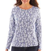 Liz Claiborne Long-Sleeve Sweatshirt