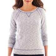 Liz Claiborne Long-Sleeve Mélange Sweatshirt