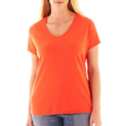 St. John's Bay® Short-Sleeve V-Neck Tee - Tall