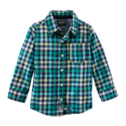 OshKosh B'Gosh® Plaid Button-Front Shirt - Preschool Boys 4-7x