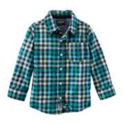 OshKosh B'Gosh® Plaid Button-Front Shirt - Preschool Boys 4-7x
