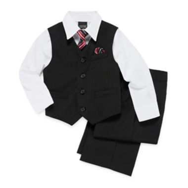 jcpenney.com | Striped Vest 4-pc.. Set - Toddler Boys 2t-5t