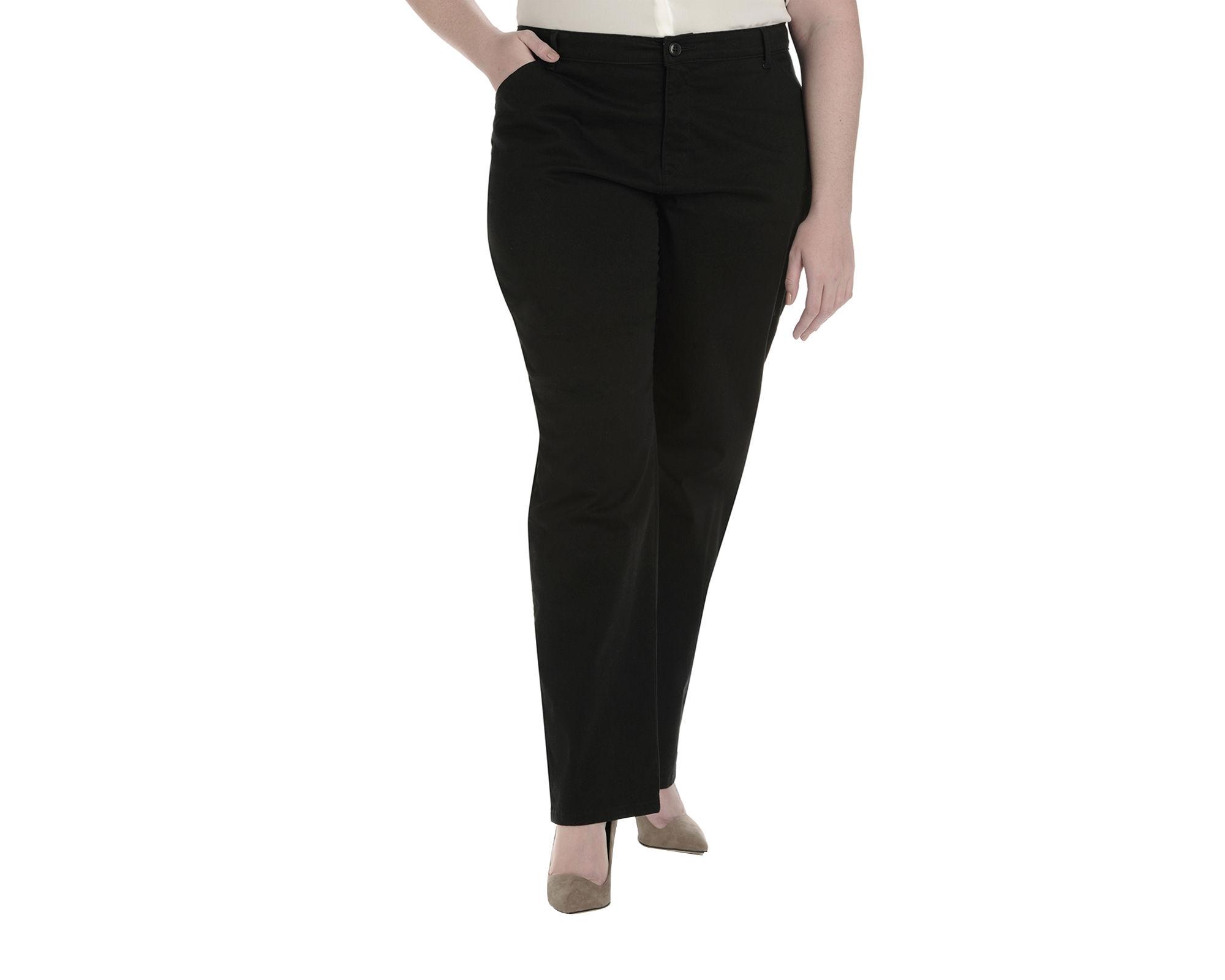 Lee Plain Front Twill Pants - Plus