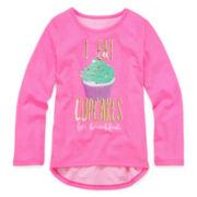 Okie Dokie® Long-Sleeve Graphic Tee - Preschool Girls 4-6x