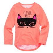 Okie Dokie® Graphic Halloween Tee - Preschool Girls 4-6x