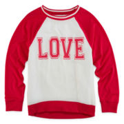 Total Girl® Raglan Sweatshirt - Girls 7-16 and Plus