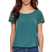 a.n.a® Short-Sleeve Embellished T-Shirt - Tall