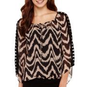 Alyx® Crochet Bell-Sleeve Bubble Top