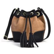 Liz Claiborne® Drawstring Mini Bucket Bag