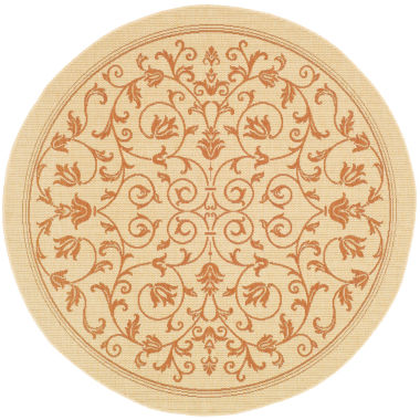 jcpenney.com | Courtyard Geometric Border Indoor/Outdoor Round Rugs