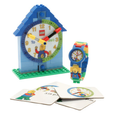 jcpenney.com | LEGO® Kids Time Teacher Watch with Blue Construction Clock & Activity Cards