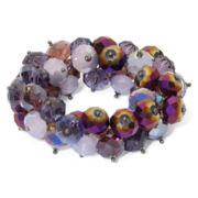 Purple Bead Chunky Stretch Bracelet